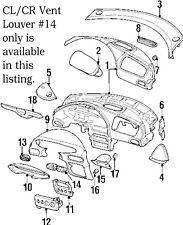 Air Vent Louver Center Cl Cr 1996 - 2000 Chrysler Sebring d49847