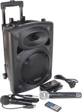 """Ibiza PORT8VHF-BT Mobile Impianto Sonorizzazione 8 """" Cassa Microfono Batteria"""