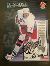 JOHN LECLAIR FLYERS AUTOGRAPHED 1997-98 Esso Olympic Hockey Heroes #25 JUMBO 5X7
