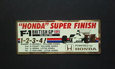 F1 1987 HONDA FORMULA 1 BRITISH GP SENNA / PIQUET original sticker