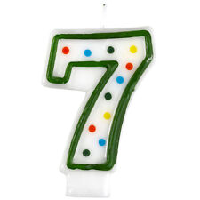 Polka Dot Number 7 Birthday Candles  - Amscan