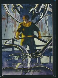 2020 Upper Deck Marvel Masterpieces Gold Foil Signature Lvl 1 #1 Doctor Octopus