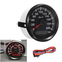 85mm Motor Stainless Speedometer Waterproof Antifogging Digital Gauge 200KM/H