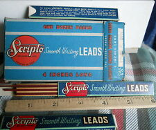 """Vintage Scripto*4"""" Leads for Mechanical Pencils #RED*12 LEADS per BOX"""