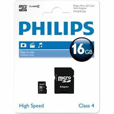 16GB MICRO SD CARD WITH ADAPTER CLASS 4