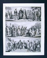 1849 Bilder Atlas Print - French Kings Clovis Charlemagne Norman Nobles France