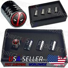 Deadpool Sports Car Logo Valve Stem Caps Emblem Valve Caps Chromed Roundel Tire