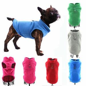 Soft Fleece Dog Shirt Vest Dog Sweater Coat Puppy Clothes Cat Shirt Vest Jackets