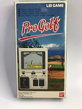 PRO GOLF LSI GAME By BANDAI HAND HELD GAME 1984 w PAPER WORK in Box
