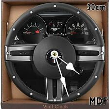 FORD MUSTANG Steering Wheel MDF Wall Clock 30CM /11.81in/CAN BE PERSONALISED