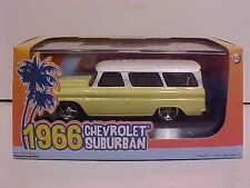 1966 Chevy Suburban Die-cast SUV Truck 1:43 Greenlight 5 inch Yellow