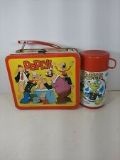 Vintage Rare 1980 Aladdin Popeye Lunch Box W/ Thermos