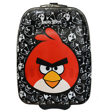 "Angry Birds ""Big Red"" - Hard Shell Rolling Kids Carry On Luggage Suitcase Case"