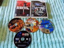 6X LOT WII Star Wars Complete Saga,FORCE UNLEASHED,HELP WANTED,WEST SHOOTOUT,