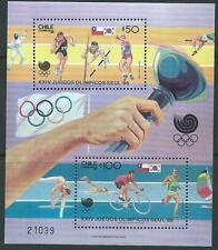 Chile 1988 Olimpyc games Seoul Korea sports souvenir sheet