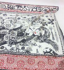M&S Marcel Wanders Queen of Hearts Premium Silk Scarf RRP £29.50 85cm x 85cm