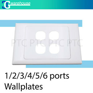 1/ 2/ 3/ 4/ 5/ 6 Port wallplate Mech Insert Clipsal Style Ethernet Socket Panel