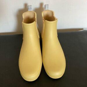 Hunter Original Yellow Chelsea Boots Size UK 5