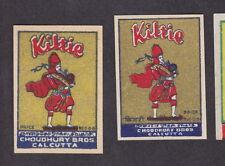 Ancienne  étiquette allumettes Inde   BN13844 Kiltie Kilt Homme