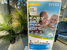 Intex 15 x 48 Inflatable Above Ground Swimming Pool IN HAND. with Chlorine Tabs