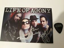 Life of Agony  A Place Where There's No More Pain autographed postcard and pick