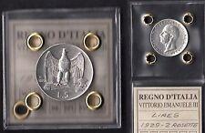 LIRE 5 VITTORIO EMANUELE III AQUILOTTO 1929 argento SILVER 2 Rosette Silver