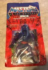 Vintage Spikor Masters of the Universe He-Man figure NEW on card in Package MOTU