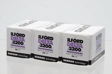 3 Packs of Ilford 3200 Delta 135 Film - White/Black 36 exposures