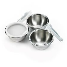MasterChef Prep Mixing Bowls with Lids Stainless 3 Set