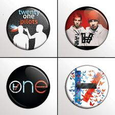 "4-Piece Twenty One Pilots (21, Set 2) 1"" Band Pinback Buttons / Pins / Badge Set"