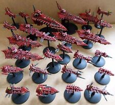 1999 Battlefleet Gothic Flotta del CAOS games workshop PRO PAINTED NAVE BFG 40K GW