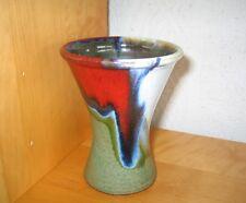 Handwerker-Keramik-Vase,Töpferei Piezonka Burg/Spreewald,Geschenk,12,5 cm Höhe
