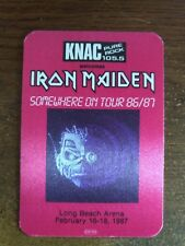 IRON MAIDEN 86/87 SOMEWHERE ON TOUR  Radio Promo KNAC 105.5 LONG BEACH,CA MINT