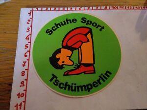 ADESIVO STICKER VINTAGE KLEBER SCHUHE SPORT TSCHUMPERLIN