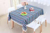Rectangle Tablecloths Dinner Picnic Table Cloth Washable Cotton Linen Lace Boho