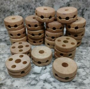 Tinkertoy 330 Replacement Parts Wood Spools