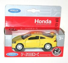 Welly - HONDA INTEGRA TYPE R (Yellow) Die Cast Model - Scale 1/34-1/39