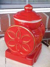 Historic House of Webster Red Ceramic coffee grinder cookie jar