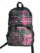 New Womens Girls ROXY Modern Love Black Pink Backpack Book Bag