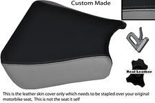 Black & grey custom 00-01 fits honda cbr 900 coureur devant housse siège en cuir