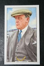 Manton Stables  Trainer J Lawson   Original 1930's Vintage Card  VGC
