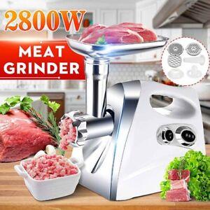 Commercial Electric Meat Grinder Sausage Maker Mincer Stuffer Handle 2800W`