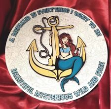 "A Mermaid Is Everything I Want to Be metal anchor Sign of the Times 12"" round"