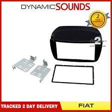 CT23FT15 Car Stereo Black Double Din Fascia Adaptor Kit For Fiat Doblo 2010-2015