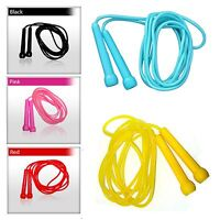 4Fit Plastic Skipping Ropes PVC Speed Jump Rope Fitness Exercise Workout Jumping
