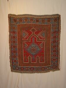 WONDERFUL ANTIQUE KONYA ? OR CAUSIAN SMALL PRAYER RUG ****HG***