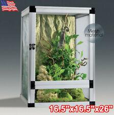 "26"" Tall Reptile Terrarium Cage Snake Lizard Frog Habitat Screen Enclosure Tank"
