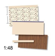 1:48 Scale Dollhouse Wallpaper - Wentworth Wainscot - 1930 Vintage