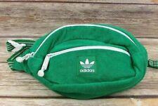Adidas Originals Terry Waist Shoulder Bag Fanny Pack Green & White Adjustable