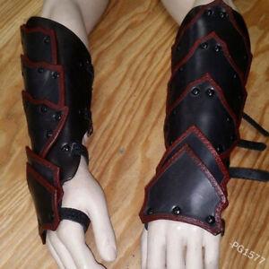 Retro Buckle Wrist Protector Men Medieval Bracers Wide Arm Armor Cuff Steampunk